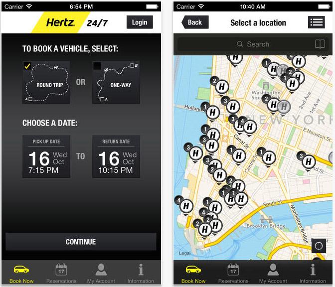 Hertz 24/7 App